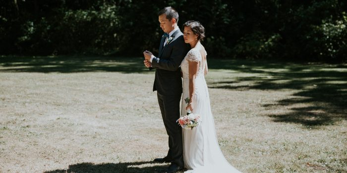 White Rock Backyard Wedding // May + Andy